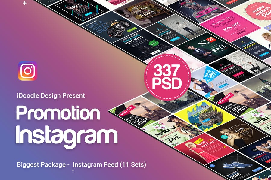 Promotion Instagram Banners Ads - 337PSD