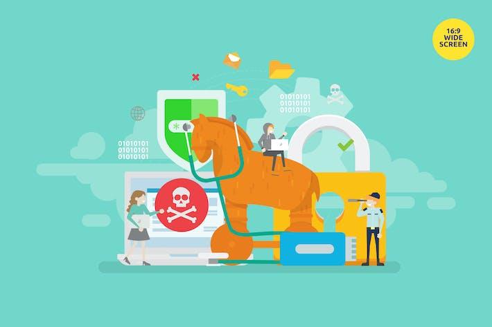 Thumbnail for Концепция защиты от вредоносных программ троянского коня