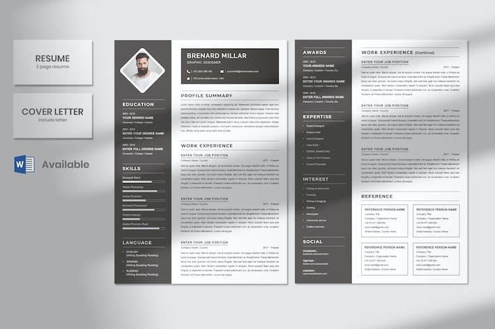 Minimal Graphic Designer Resume