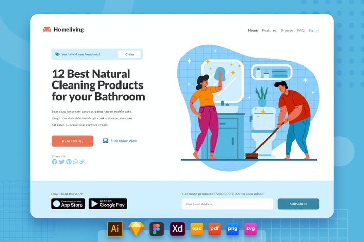 Landing Page V.30 Cleaning Bathroom Product Review
