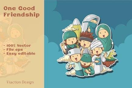 DV - Eine gute Freundschaftsillustration