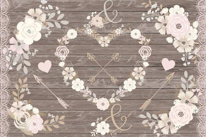 Thumbnail for Floral clipart, Spring flower clipart
