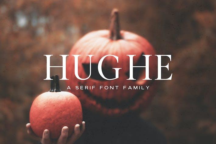 Thumbnail for Hughe Serif Font Family