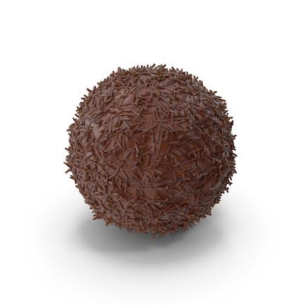Schokoladenkugel mit Schokoladen-Pops