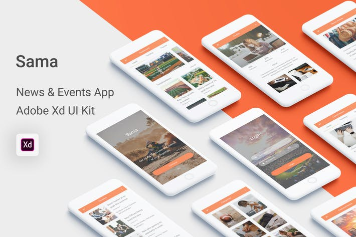 Thumbnail for Sama - News & Events UI Kit for Adobe XD