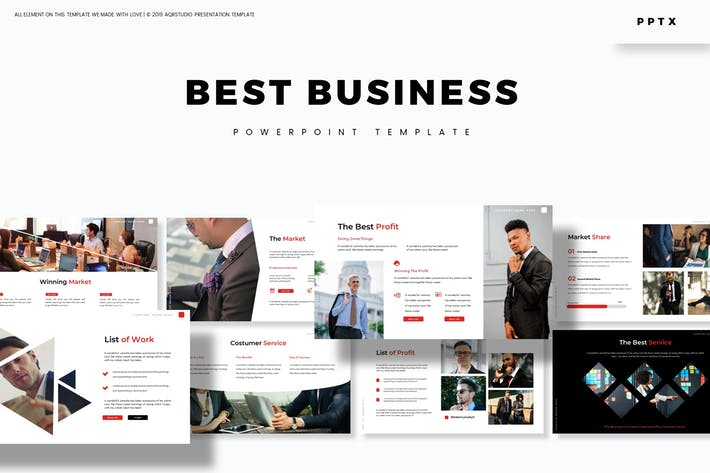 Thumbnail for Лучший бизнес — Шаблон Powerpoint