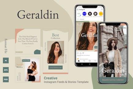 Geraldin - Instagram Feeds & Stories Pack