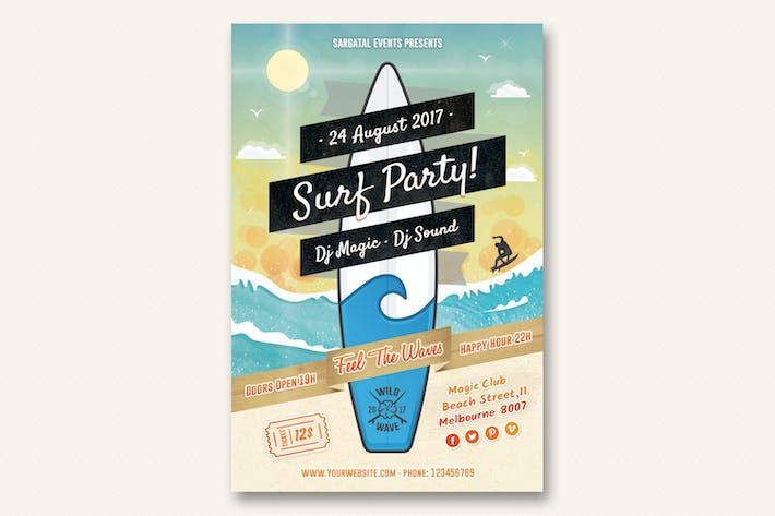 Thumbnail for Surf Party Flyer