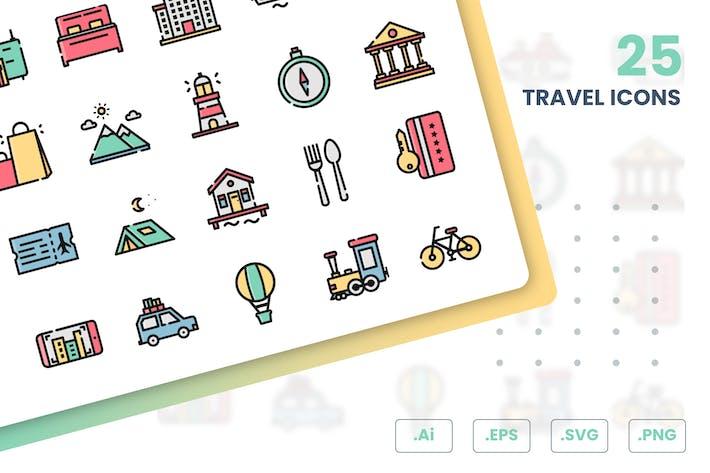 Набор Иконки путешествий