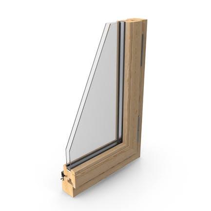 Секция деревянных окон