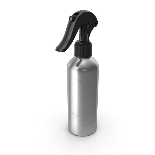 Botella de Aluminio con Spray Negro Top 150 ml