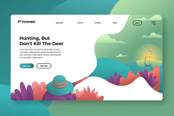 Thumbnail for Hunting - Banner & Landing Page