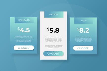 Pricing Table Vol 03 - Page