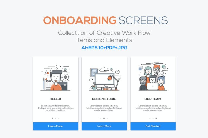 Thumbnail for 15 Onboarding Screens for App