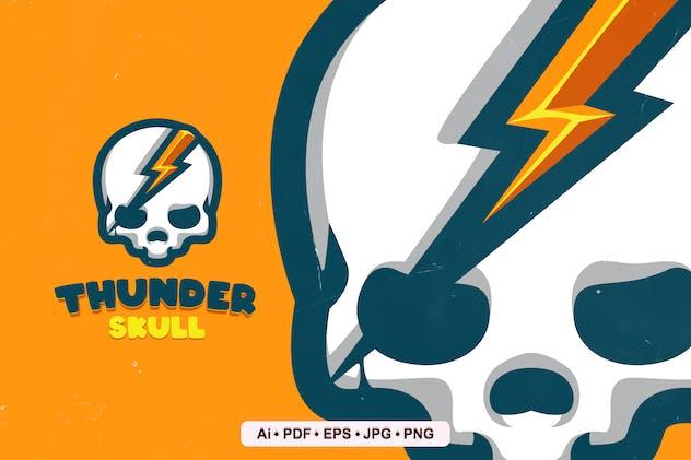 Thunder Skull Mascot Logo Template