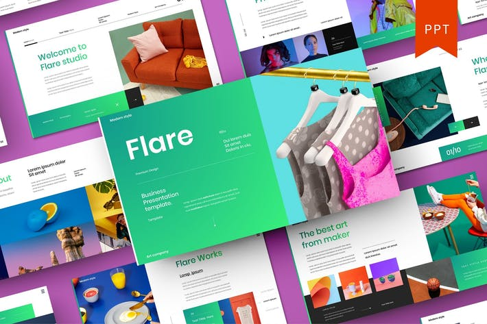 Thumbnail for Flare – Business PowerPoint Template