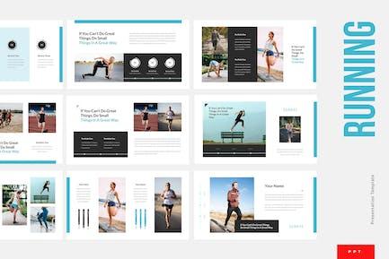 Running - Sport Powerpoint Presentation Template