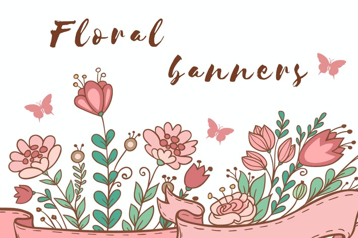 Thumbnail for Decorative Floral Banners