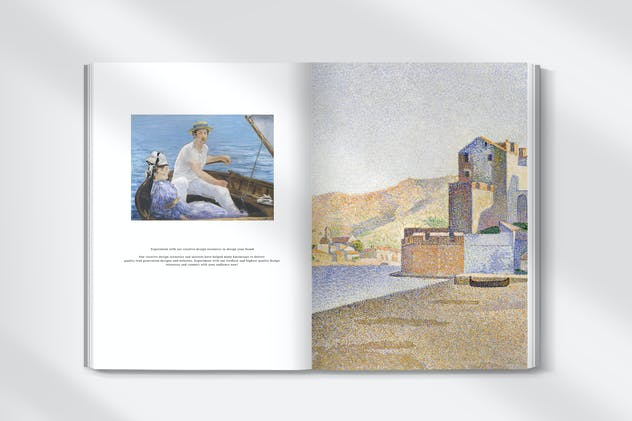 Book mockup psd with vintage illustration