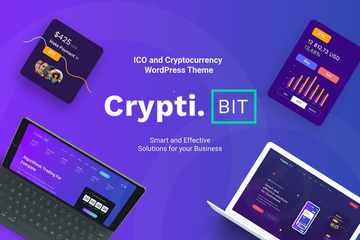 CryptiBIT - Cryptocurrency, ICO WordPress theme