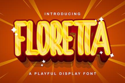 FLORETTA - Fuente de visualización lúdica