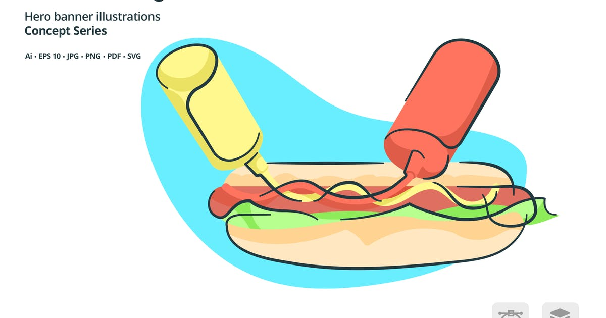 Download Lunch Hotdog Meal Vector Illustration by roundicons