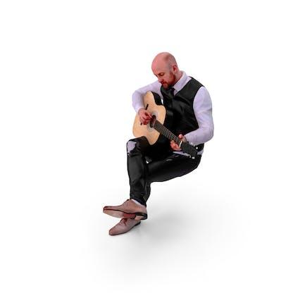 Музыкант Человек позировал