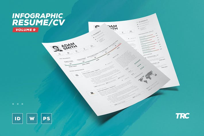 Thumbnail for Infographic Resume/Cv Volume 9