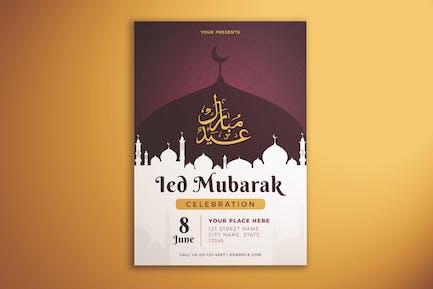 Ied Mubarak Celebration Flyer