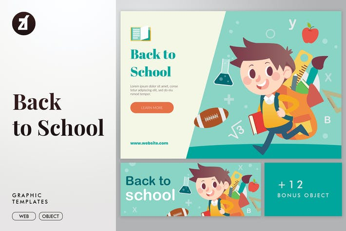 Thumbnail for Back to school illustration elements