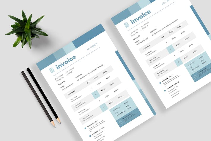 Thumbnail for Minimalist Invoice Template Vol 09
