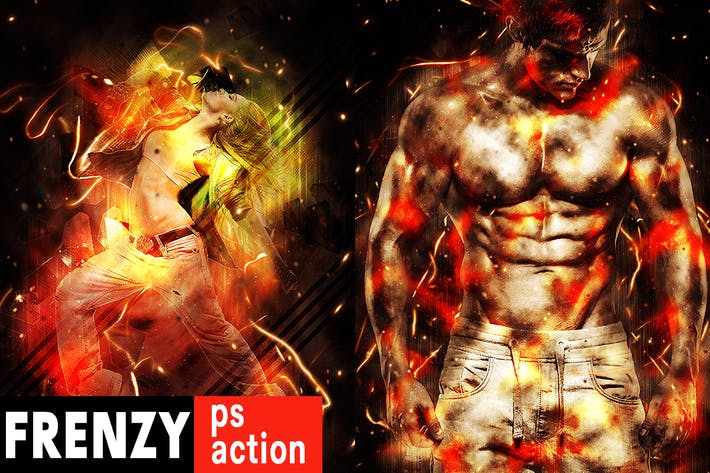 Thumbnail for Frenzy Photoshop Action
