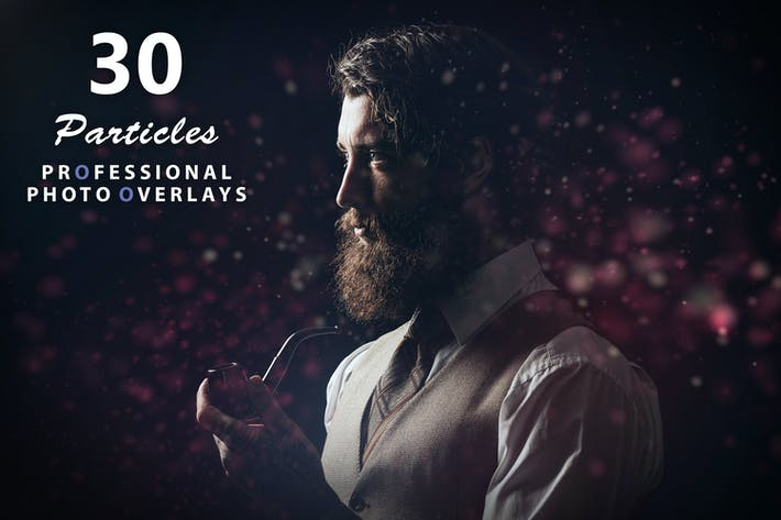 Thumbnail for 30 Particles Photo Overlays