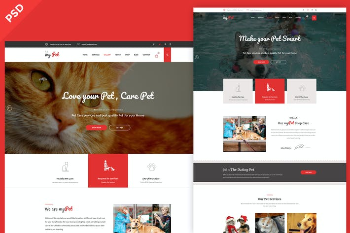 Thumbnail for MyPet - Pet Shop & Veterinary PSD Template