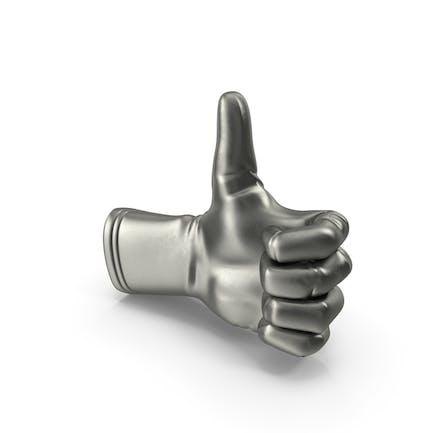 Metalic Glove Thumb Up