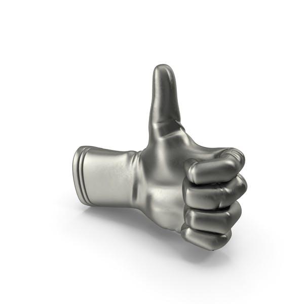 Металлические перчатки большой палец вверх