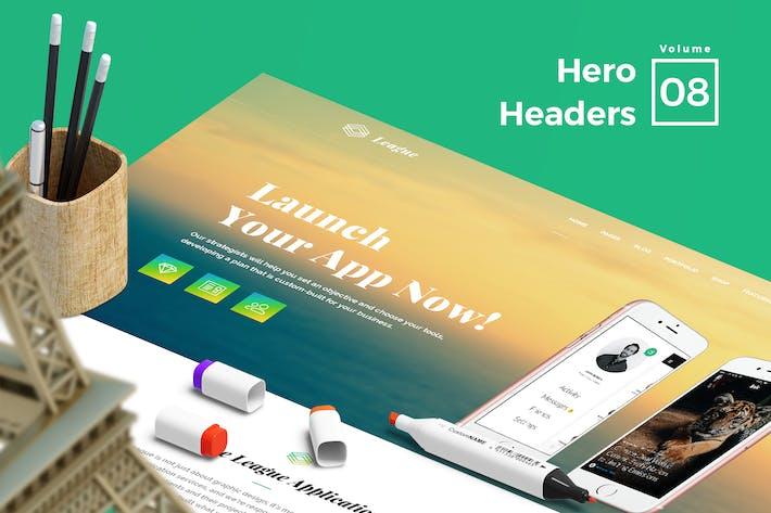 Thumbnail for Hero Headers for Web Vol 08