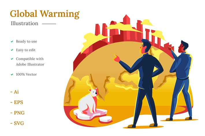 Thumbnail for Global Warming Illustration