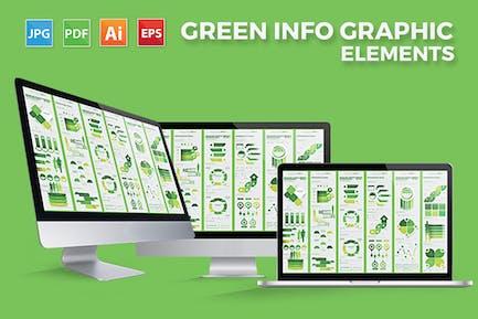 Green Infographics Elements