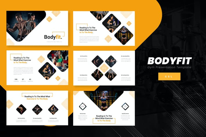Thumbnail for Bodyfit - Fitness Google Slide Template
