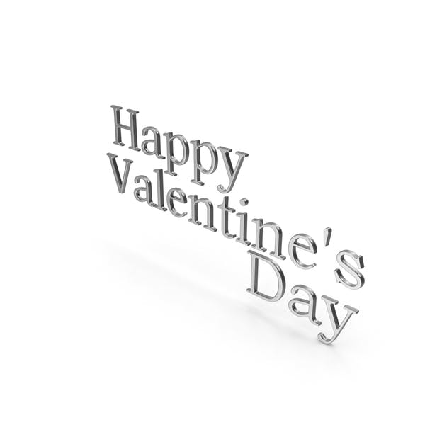 Thumbnail for Happy Valentine's Day Symbol Silver