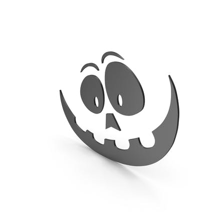 Pumpkin Figure Cartoony Black