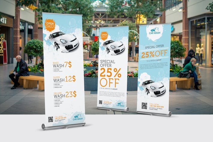 Thumbnail for Car Wash Roll-Up Banner