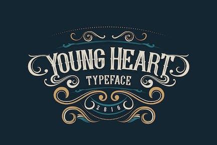 Молодое сердце шрифт
