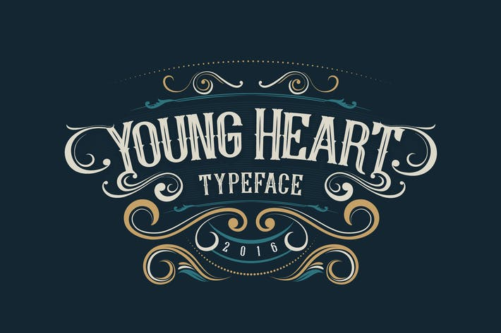 Thumbnail for Young Heart Typeface