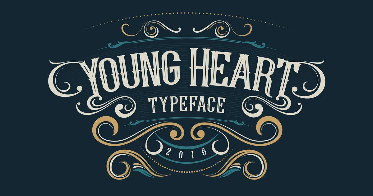 Download Young Heart Typeface by alit_design