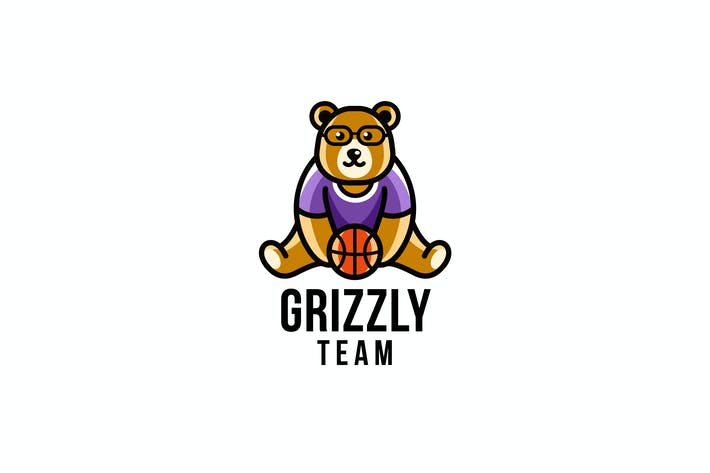 Thumbnail for Grizzly Team Logo Template