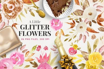 A Little Glitter Flowers