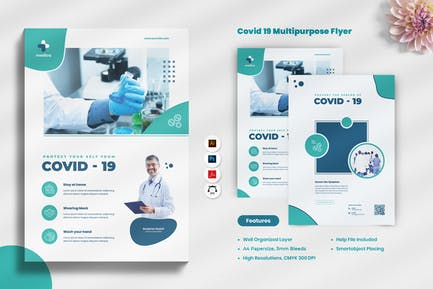 Corona Covid-19 Virus Flyer
