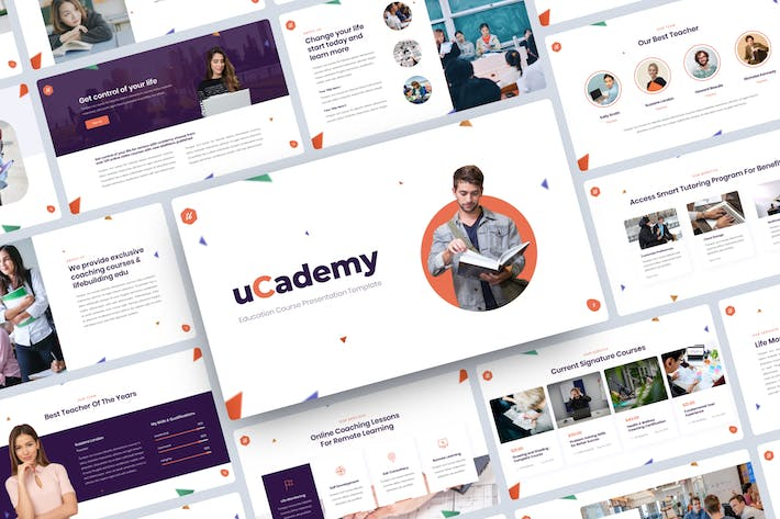 Thumbnail for uCademy - Education Course Google Slides Template